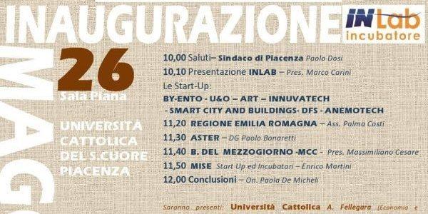 Inaugurazione INLAB incubatore, 26 maggio 2017